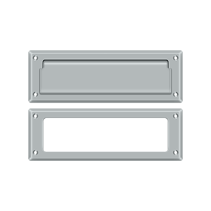 """Deltana MS626U26D 8-7/8"""" Length X 2-7/8"""" Height Door Mail Slot With Interior Frame Brushed Chrome"""
