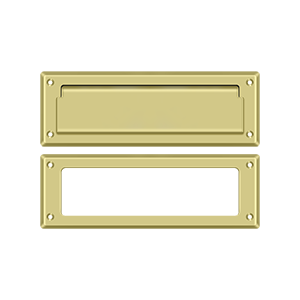 """Deltana MS626U3 8-7/8"""" Length X 2-7/8"""" Height Door Mail Slot With Interior Frame Polished Brass"""