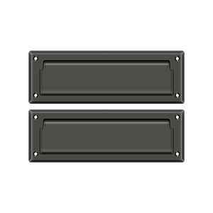 """Deltana MS627U10B 8-7/8"""" Length X 2-7/8"""" Height Door Mail Slot With Back Plate Oil Rubbed Bronze"""
