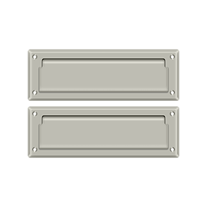 """Deltana MS627U15 8-7/8"""" Length X 2-7/8"""" Height Door Mail Slot With Back Plate Brushed Nickel"""