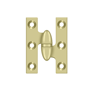 Deltana OK2015U26D-R Solid Brass 2-Inch x 1//2-Inch Olive Knuckle Hinge