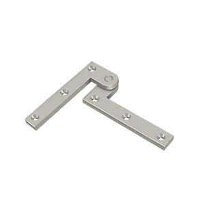 """Deltana PH35U15 3-7/8"""" Height X 1/4"""" Thickness Fixed Pivot Door Hinge Satin Nickel"""
