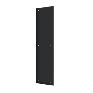 "Deltana PP3515U19 15"" Height X 3-1/2"" Width Door Rectangular Push Plate Without Framed Black"