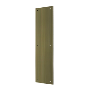 """Deltana PP3515U5 15"""" Height X 3-1/2"""" Width Door Rectangular Push Plate Without Framed Antique Brass"""