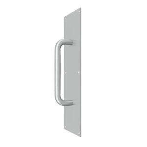 "Deltana PPH4016U32D 16"" Height X 4"" Width Pull Plate With Handle Satin Stainless Steel"