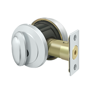 Deltana PRDRSU26 Port Royal Grade-2 Deadbolt Lock With Round Rosette Entry Bright Chrome