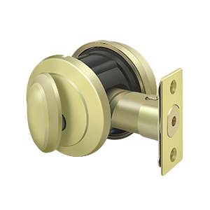 Deltana PRDRSU3 Port Royal Grade-2 Deadbolt Lock With Round Rosette Entry Polished Brass