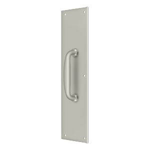 "Deltana PPH55U15 15"" Height Push Plate For Door Pull With Handle Satin Nickel"