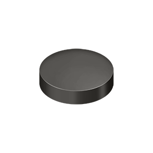 "1"" Diameter Round Cover Caps For Screw Heads Flat Oil Rubbed Bronze"