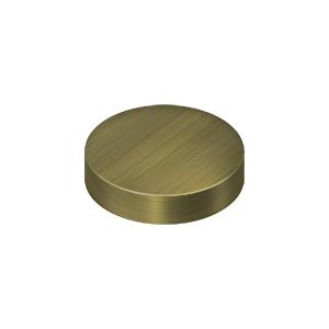 "Deltana SCF100U5 1"" Diameter Round Cover Caps For Screw Heads Flat Antique Brass"