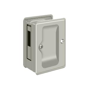"""Deltana SDAR325U15 3-1/4"""" Height Tall HD Pocket Door Lock Receiver Dummy Satin Nickel"""