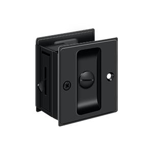 Heavy Duty Pocket Door Lock Privacy Black