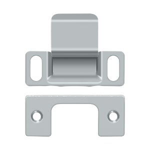 """Deltana SP2751U26D 2-3/4"""" Height X 1-1/4"""" Width Dust Cup Adjustable Strike Plate Brushed Chrome"""