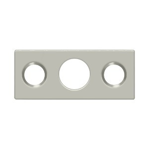 "1-1/2"" Height X 5/8"" Width Strike Plate For 7"" Flush Bolt Satin Nickel"
