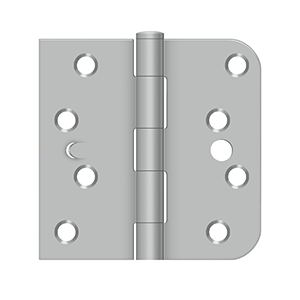 """Deltana SS44058TA32D-RH 5/8"""" Radius Plain Bearing Mortise SQ Hinge Right Handed W/Security Option Stainless Steel"""