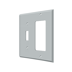 Deltana SWP4743U26D Switch Plate Cover 1 Toggle & 1 Rocker Brushed Chrome
