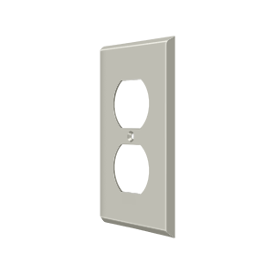 Deltana SWP4752U15 Switch Plate Cover 2 Receptacle Satin Nickel