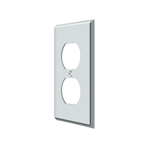 Deltana SWP4752U26 Switch Plate Cover 2 Receptacle Polished Chrome