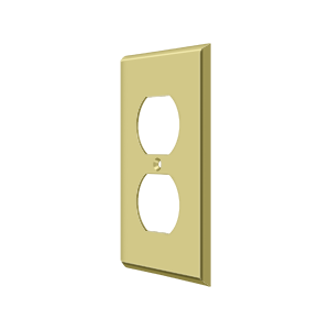 Deltana SWP4752U3 Switch Plate Cover 2 Receptacle Polished Brass