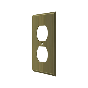 Deltana SWP4752U5 Switch Plate Cover 2 Receptacle Antique Brass