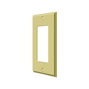 Deltana SWP4754U3 Switch Plate Cover 1 Rocker Polished Brass