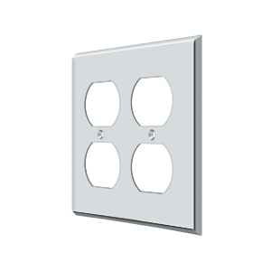 Deltana SWP4771U26 Switch Plate Cover 4 Receptacle Polished Chrome