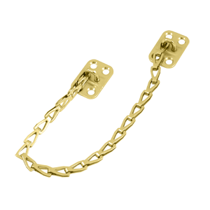 "Deltana TC82U3 12"" Length Transom Chain For Lock Polished Brass"
