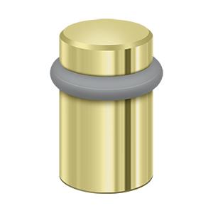 "Deltana UFB5000U3 2"" Height Round Universal Floor Bumper Polished Brass"