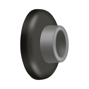 "2-1/2"" Diameter Flush Door Bumper Concave Oil Rubbed Bronze"