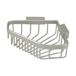 "Deltana WBC6353U15 6"" Length Pentagon Wire Corner Shower Basket Satin Nickel"