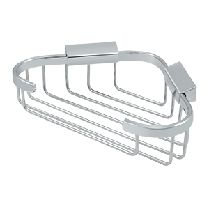"Deltana WBC8570U26 8-3/4"" Length X 6-7/8"" Width Triangular Corner Wire Basket Polished Chrome"