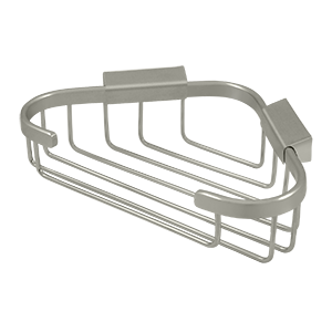 "Deltana WBC8570U15 8-3/4"" Length X 6-7/8"" Width Triangular Corner Wire Basket Satin Nickel"