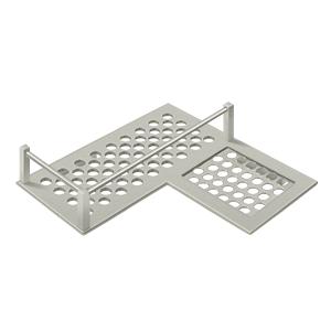 "Deltana WBHDCR9U15 9-1/4"" Length Heavy Duty L shaped Bathroom Basket Right Hand Satin Nickel"