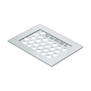 "Deltana WBHDSD55U26 5-1/2"" Length X 4-3/8"" Width Heavy Duty Bathroom Basket Soap Dish Polished Chrome"