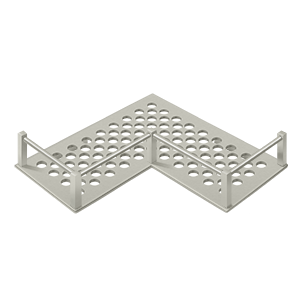 "Deltana WBHDUC9U15 9-1/4"" Length Heavy Duty L shaped Bathroom Basket Universal Satin Nickel"