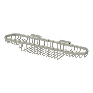 "Deltana WBR1835U15 18"" Length Wall Mounted Rectangular Shower Basket Satin Nickel"
