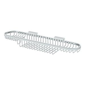 "Deltana WBR1835U26 18"" Length Wall Mounted Rectangular Shower Basket Polished Brass"