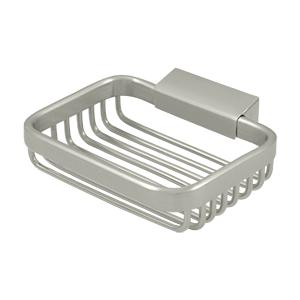 "Deltana WBR4535U15 4-3/4"" Length X 3-1/2"" Width Wire Basket Rectangular Soap Holder Satin Nickel"