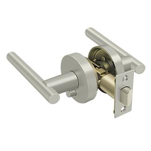 Deltana ZMLR2U15-RH Elite Mandeville Series Residential Lever Privacy Right Handed Brushed Nickel