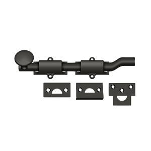 "Deltana FPG610B/B 6"" Length HD Surface Door Bolt With Offset Oil Rubbed Bronze"