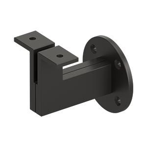 2 Pack of Oil Rubbed Bronze Handrail Brackets