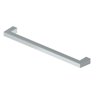 "Deltana SBP80U26 Modern Square Bar Pull, 8"", HD, Solid Brass in Polished Chrome"