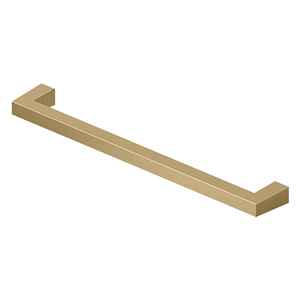 "Deltana SBP80U4 Modern Square Bar Pull, 8"", HD, Solid Brass in Brushed Brass"