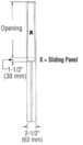 """CRL SDR1ASA Satin Anodized X-/-X Format Sliding Door Entrance System - 4"""" Top and Bottom Tapered Rail"""