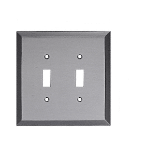 Brushed Nickel Double Toggle Metal Mirror Plate