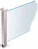 """CRL PP42TPS Polished Stainless 18"""" High 1-1/2"""" Square PP42 Plaza Series Counter/Partition 3-Way Post With Air Space"""