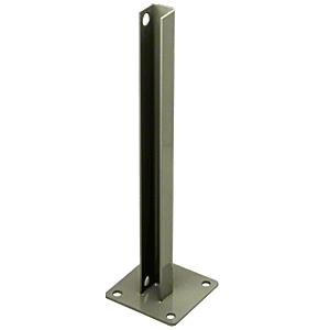 CRL PSB1CBGY Beige Gray AWS Steel Stanchion for 180 Degree Round or Rectangular Center or End Posts