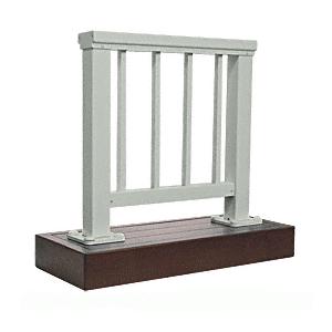 CRL ARS2PSAGY Agate Gray 200 Series Aluminum Picket Railing System Small Showroom Display