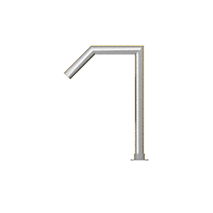 """Polished Stainless Elegant 112 Series 1-1/2"""" Tubing Glass On Slant Only Sneeze Guard"""