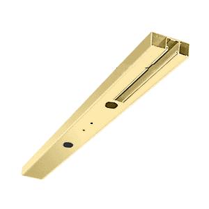 "Polished Brass 4"" One Pocket Double Sided Door Header Custom Length"